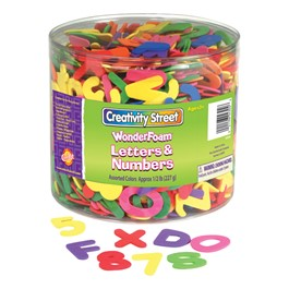 Chenille Kraft Wonderfoam Letters & Numbers - 1500 Pieces