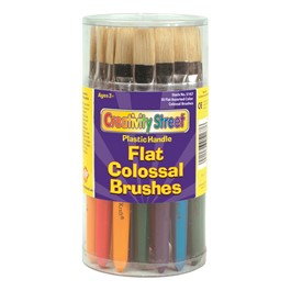 Chenille Kraft Colossal Paintbrushes w/ Wood Handles - Set of 30 - Flat