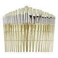 Chenille Kraft Paintbrush Assortment w/ Wood Handles - Set of 24
