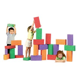 ImagiBricks Giant Building Blocks - Rainbow - 24 Pieces
