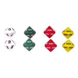 Place Value Dice Set - Two Sets of Four 10-Sided Dice