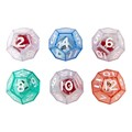 Twelve-Sided Double Dice Set: A Die Inside of a Die - Set of Six