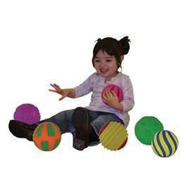 Tactile Squeak Balls - Set of Six