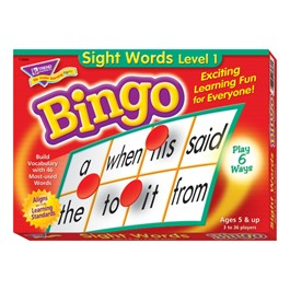 Bingo - Sight Words