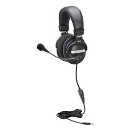 Stereo Headset w/ Boom Microphone & Mobile-Ready Plug
