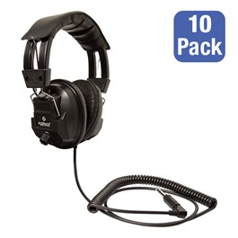 Pack of 10 Switchable Stereo/Mono Classroom Headphones
