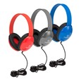 Heavy-Duty Kids' Headphone w/ Tangle-Free Fabric Cord
