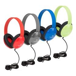 Heavy Duty Kids Headphone W Tangle Free Fabric Cord At School