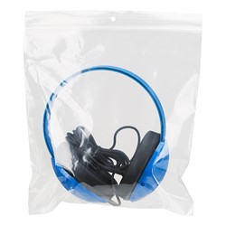 Pack of 10 Heavy-Duty Kids' Headphones w/ Tangle-Free Fabric Cord - Storage Bag