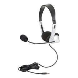 Pack of 10 Mobile-Ready Stereo School Headphones w/ Boom Microphone