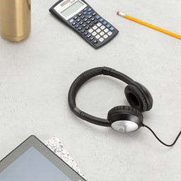 Deluxe Stereo School Headphone in a classroom setting