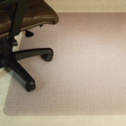 Es Robbins Beveled Edge Chair Mat For Medium To High Pile Carpet 60 W X 72 L At School Outfitters