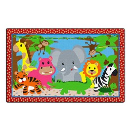 Cutie Jungle Rug (3\' W x 5\' L)