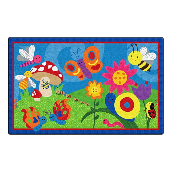 Cutie Bugs Rug (5' W x 8' L)