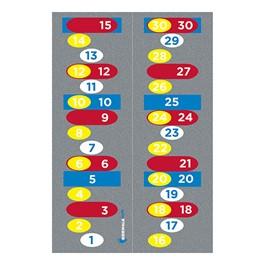 """Sidewalk Math Counting By Rug (3\' 4\"""" W x 10\' L)"""