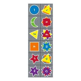 "Sidewalk Math Counting Dragons Carpet Squares - Set of 12 (15\"" W x 15\"" L)"