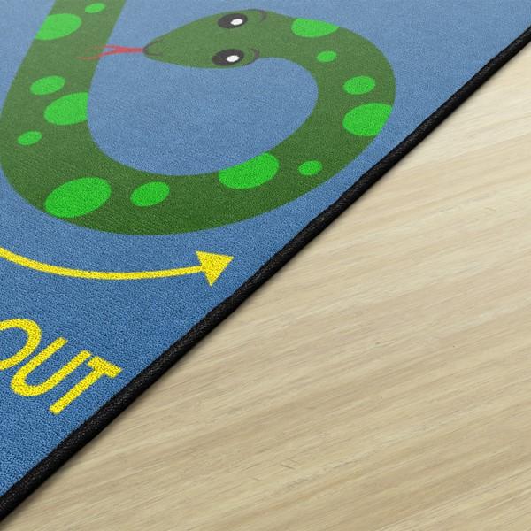 Figure Eight Snake Rug - (3' W x 3' L) - Edge