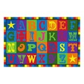 Early Blocks Washable Rug