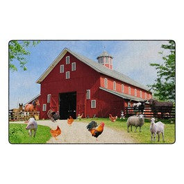"Barn Animals Rug - Rectangle (7\' 6"" W x 12\' L)"