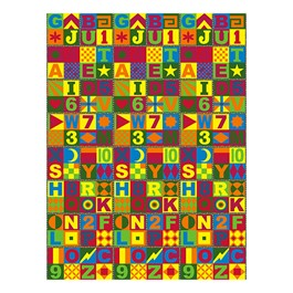 Floors That Teach Rug - Rectangle (9\' W x 12\' L)