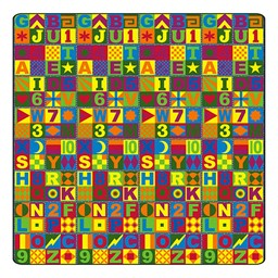 Floors That Teach Rug - Square (12' W x 12' L)