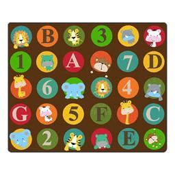 """ABC & 123 Animals Rug (10' 9"""" W x 13' 2"""" L) - Dark"""