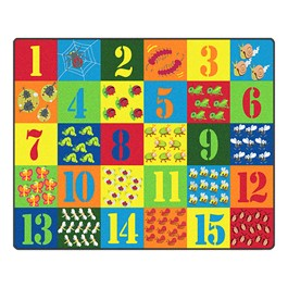 """Counting Critters Rug (10\' 9\"""" W x 13\' 2\"""" L)"""