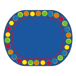 "Sitting Spots Primary Rug - Oval (10\' 9\"" W x 13\' 2\"" L)"