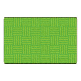 Hashtag Tone on Tone Rug - Lime
