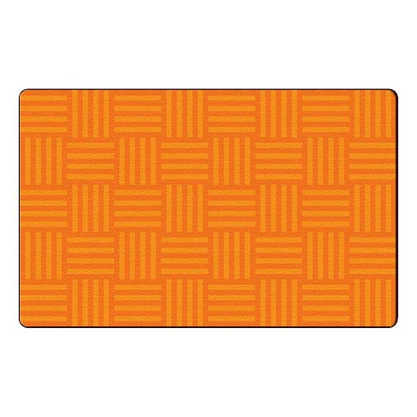 Hashtag Tone on Tone Rug - Orange