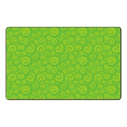 Swirl Tone on Tone Rug - Lime