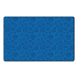 Swirl Tone on Tone Rug - Blue