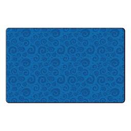 Swirl Tone on Tone Rug - Blue