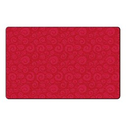 Swirl Tone on Tone Rug - Cherry