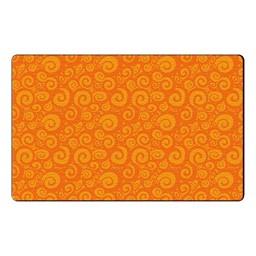 Swirl Tone on Tone Rug - Orange