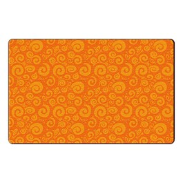 Swirl Tone on Tone Rug - Orange