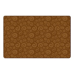Swirl Tone on Tone Rug - Chocolate