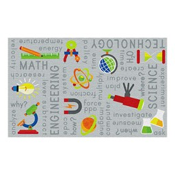 "STEM Rug (6' W x 8' 4"" L) - Gray"