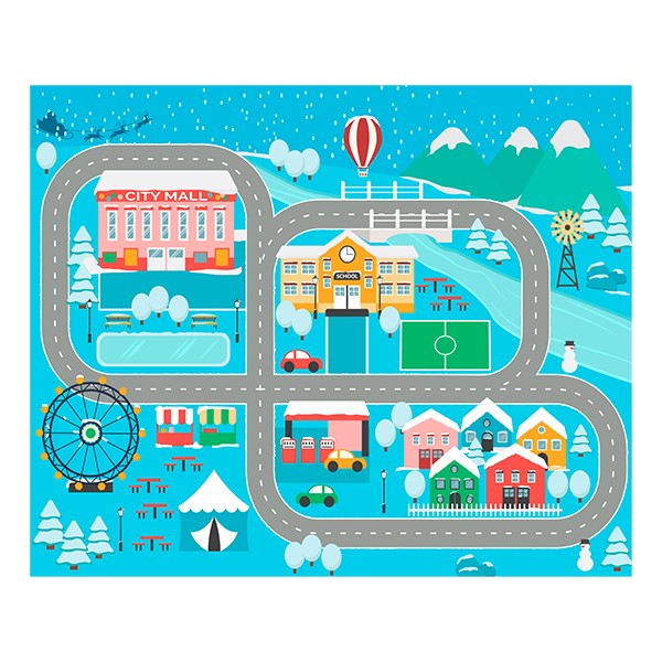 """Snow Place Like Home Rug (10' 6"""" W x 13' 2"""" L)"""