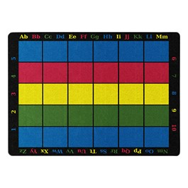 """Learning Grid Rug (10\' 9\"""" W x 13\' 2\"""" L)"""