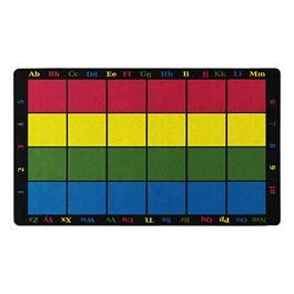 """Learning Grid Rug (7\' 6\"""" W x 12\' L)"""