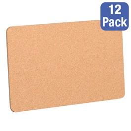 "Cork Bulletin Boards - Pack of 12 (18\"" W x 12\"" H)"
