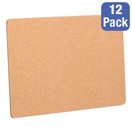 "Cork Bulletin Boards - Pack of 12 (24\"" W x 18\"" H)"