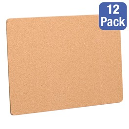 "Cork Bulletin Boards - Pack of 12 (24"" W x 18\"" H)"