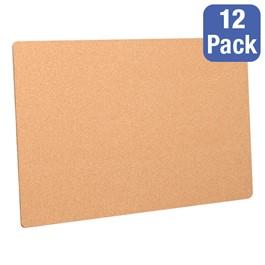 "Cork Bulletin Boards - Pack of 12 (36\"" W x 24\"" H)"