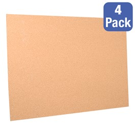 "Cork Bulletin Boards - Pack of 4 (48"" W x 36\"" H)"