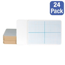 Double-Sided Dry Erase Lapboards w/ XY Axis