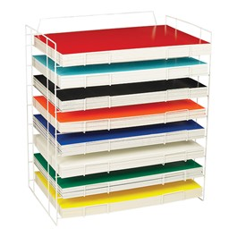 Assorted-Color Foam Project Boards w/ Storage Rack - Pack of 100