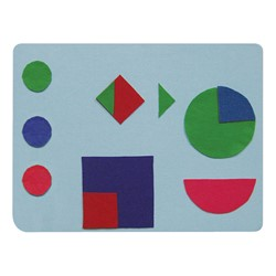 Dry Erase/Flannel Lapboards - Package of 12<br>Felt shapes not included