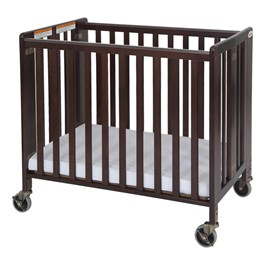 HideAway Compact Folding Safety Crib - Antique Cherry